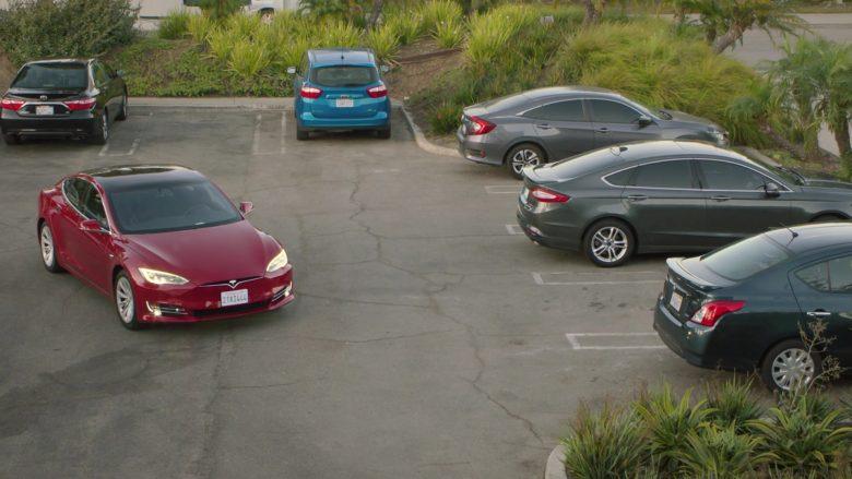 Tesla Model S Red Car in Silicon Valley Season 6 Episode 7