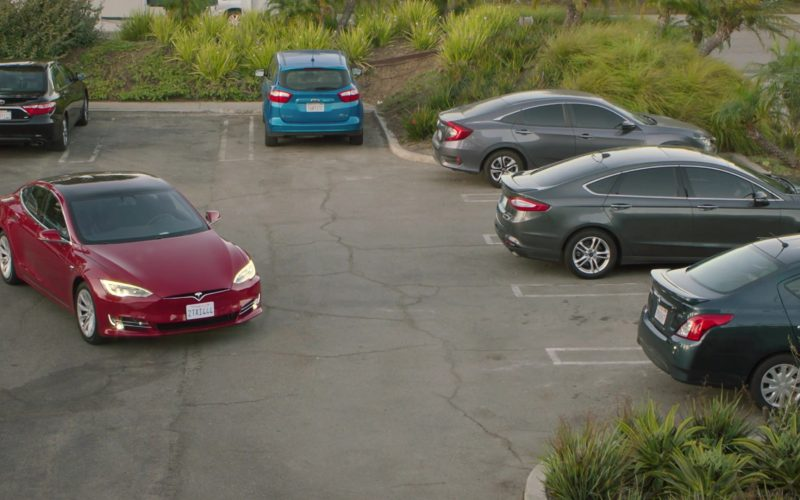 Tesla Model S Red Car in Silicon Valley Season 6 Episode 7