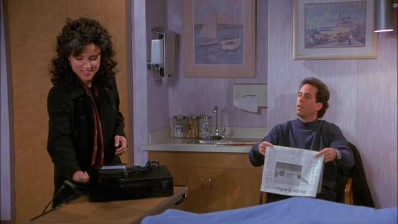 The New York Times Newspaper Held by Jerry Seinfeld in Seinfeld Season 8 Episode 13 The Comeback