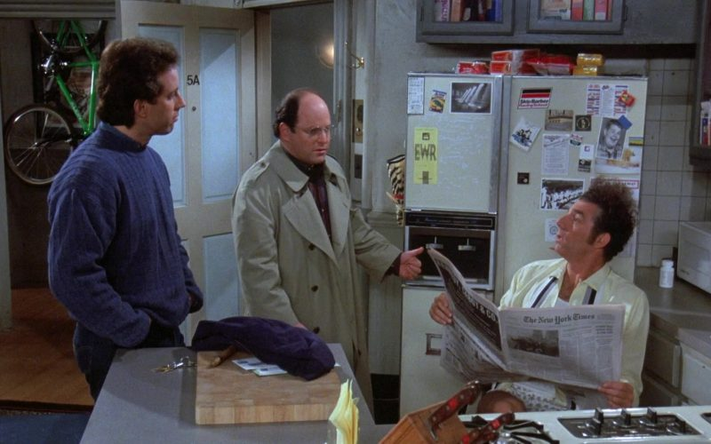 The New York Times Newspaper Held by Michael Richards as Cosmo Kramer in Seinfeld Season 7 Episode 20 (1)