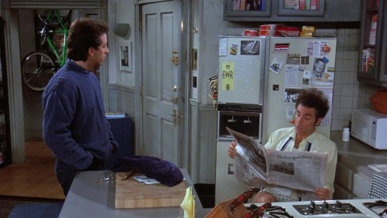 The New York Times Newspaper Held by Michael Richards as Cosmo Kramer in Seinfeld Season 7 Episode 20 (2)