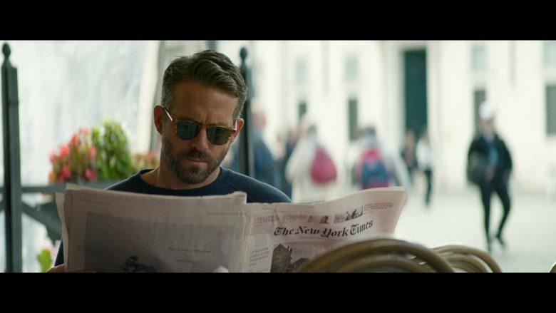 The New York Times Newspaper Held by Ryan Reynolds in 6 Underground Movie