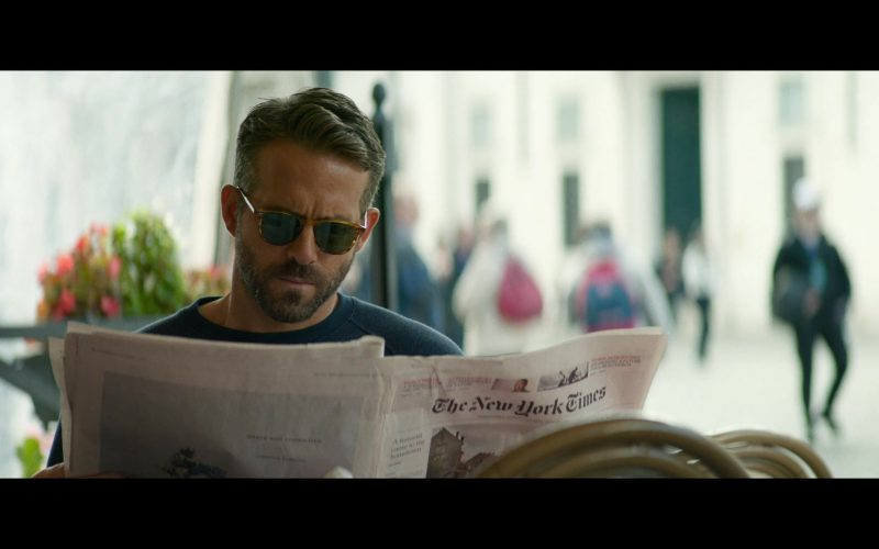 The New York Times Newspaper Held by Ryan Reynolds in 6 Underground Movie