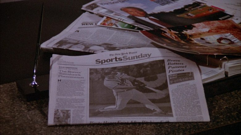 The New York Times Newspaper in Seinfeld Season 3 Episode 21 The Letter