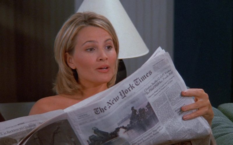 The New York Times Newspaper in Seinfeld Season 9 Episode 9 The Apology
