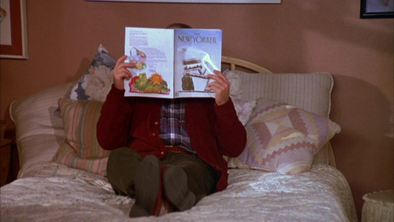 The New Yorker Magazine Held by Jason Alexander as George Costanza in Seinfeld Season 3 Episode 7