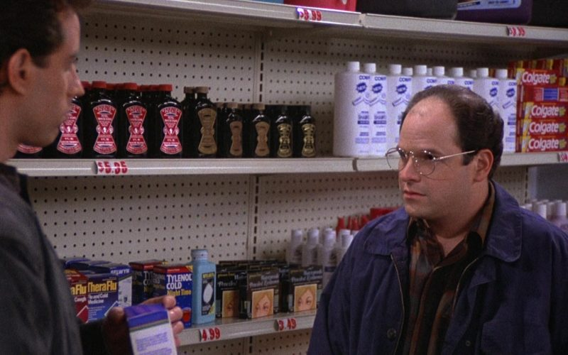 Theraflu, Tylenol & Colgate Toothpastes in Seinfeld Season 3 Episode 10