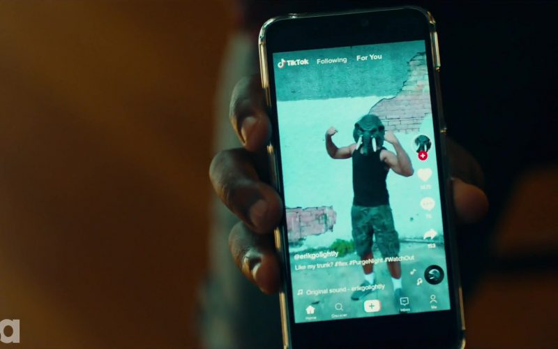 TikTok Social Media Video App in The Purge Season 2 Episode 8 Before the Sirens