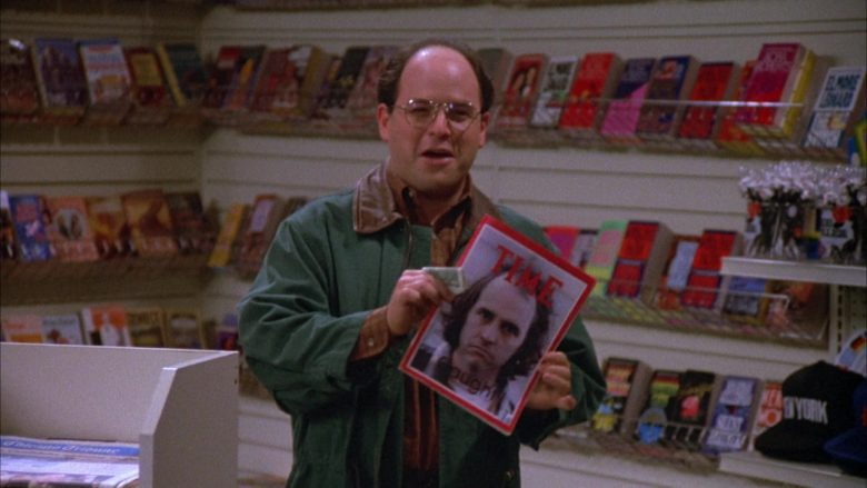 Time Magazine Held by Jason Alexander as George Costanza in Seinfeld Season 4 Episode 12 (2)