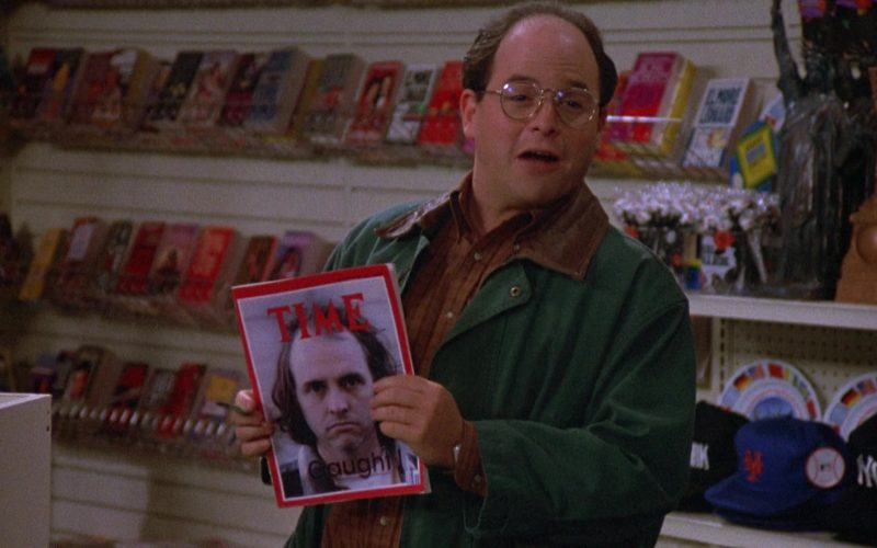 Time Magazine Held by Jason Alexander as George Costanza in Seinfeld Season 4 Episode 12 (3)