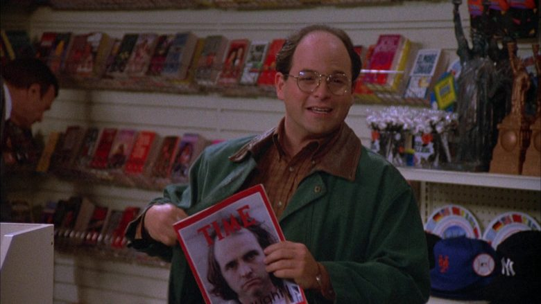 Time Magazine Held by Jason Alexander as George Costanza in Seinfeld Season 4 Episode 12 (4)