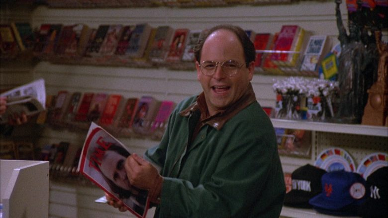Time Magazine Held by Jason Alexander as George Costanza in Seinfeld Season 4 Episode 12 (5)