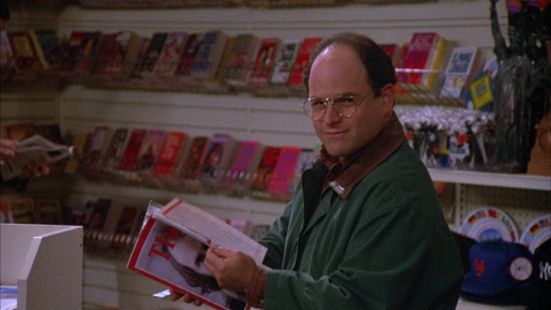 Time Magazine Held by Jason Alexander as George Costanza in Seinfeld Season 4 Episode 12 (6)