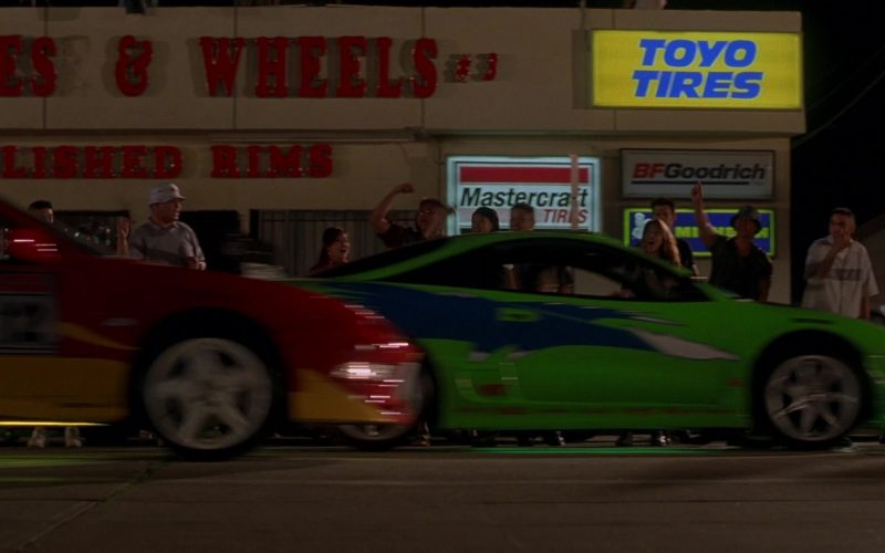 Toyo Tires, Mastercraft Tires and BFGoodrich Signs in The Fast and the Furious