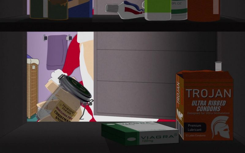 Trojan Condoms and Viagra in South Park Season 23 Episode 10 Christmas Snow