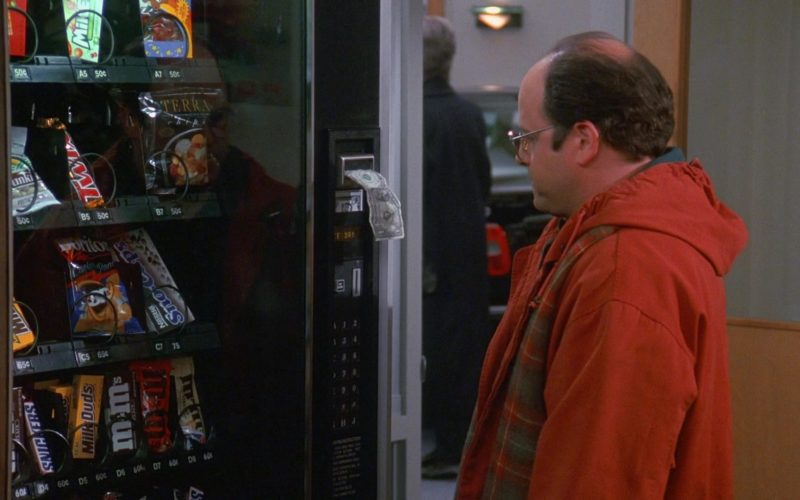 Twix, Snickers, Milk Duds, M&M's in Seinfeld Season 9 Episode 11 The Dealership