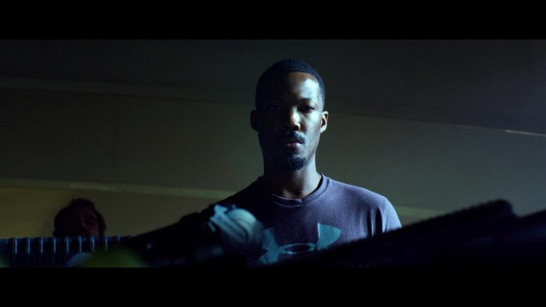 Under Armour T-Shirt Worn by Corey Hawkins as Seven/Blaine in 6 Underground (2019) - Movie Product Placement