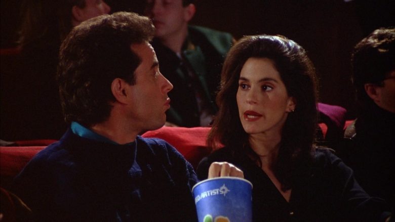 United Artists Cup Held by Jerry Seinfeld in Seinfeld Season 5 Episode 12 The Stall (3)