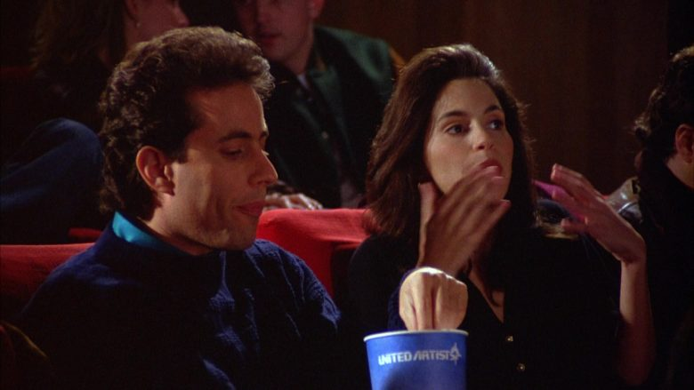 United Artists Cup Held by Jerry Seinfeld in Seinfeld Season 5 Episode 12 The Stall (4)