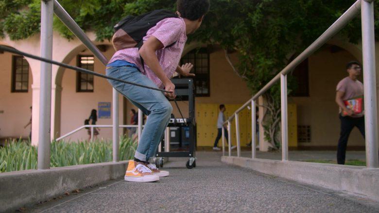 Vans Orange High Top Sneakers Worn by Rhenzy Feliz as Alex Wilder in Runaways Season 3 Episode 10 Cheat the Gallows (1)
