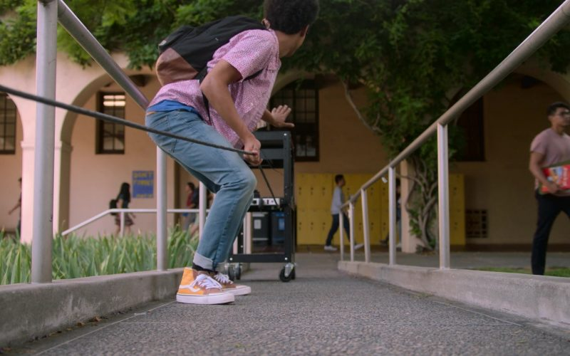 Vans Orange High Top Sneakers Worn by Rhenzy Feliz as Alex Wilder in Runaways Season 3 Episode 10 Cheat the Gallows (1)