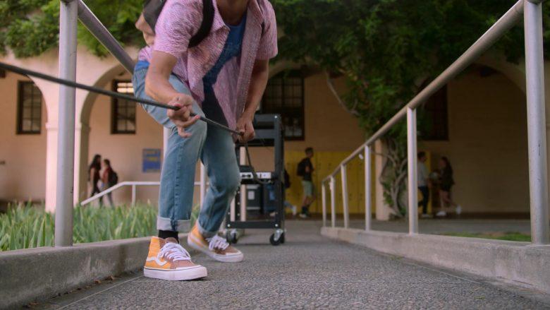 Vans Orange High Top Sneakers Worn by Rhenzy Feliz as Alex Wilder in Runaways Season 3 Episode 10 Cheat the Gallows (2)