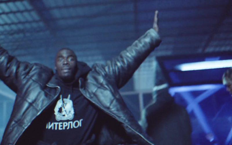 Vetements Hoodie with Interpol Logo Worn by Sheck Wes in Gang Gang by Jackboys (1)