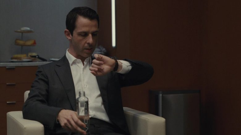 Voss Water Enjoyed by Jeremy Strong as Kendall Roy in Succession Season 1 Episode 2 Shit Show at the Fuck Factory (1)