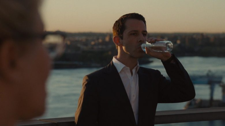 Voss Water Enjoyed by Jeremy Strong as Kendall Roy in Succession Season 1 Episode 2 Shit Show at the Fuck Factory (4)