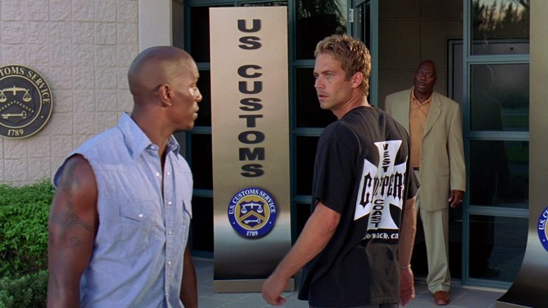 West Coast Choppers T-Shirt Worn by Paul Walker as Brian O'Conner in 2 Fast 2 Furious (1)