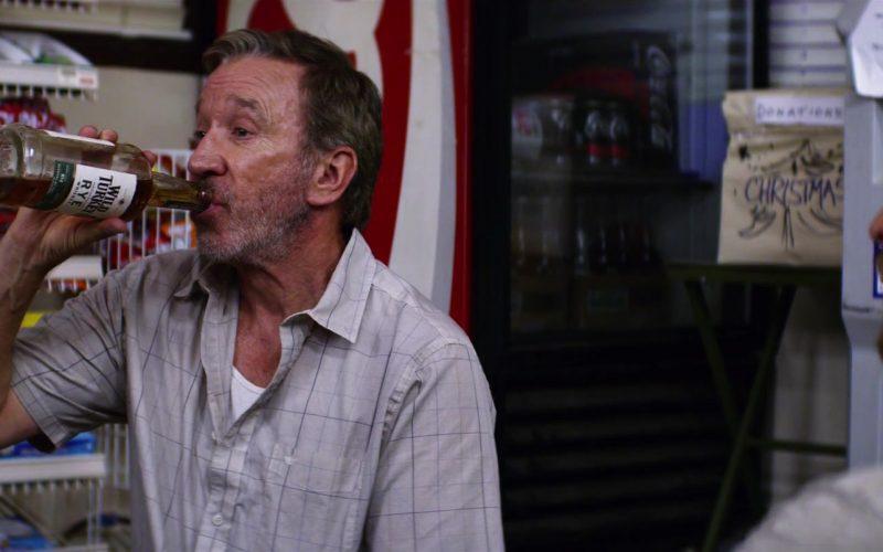 Wild Turkey Rye Whiskey Bottle Held by Tim Allen in El Camino Christmas (1)