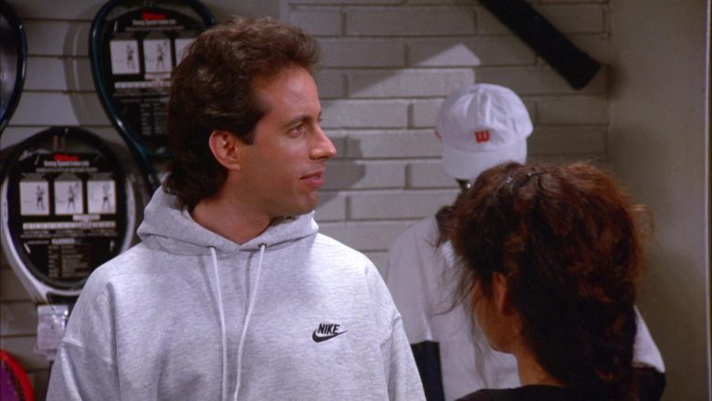 Wilson Cap and Nike Hoodie in Seinfeld Season 6 Episode 11 The Switch (2)