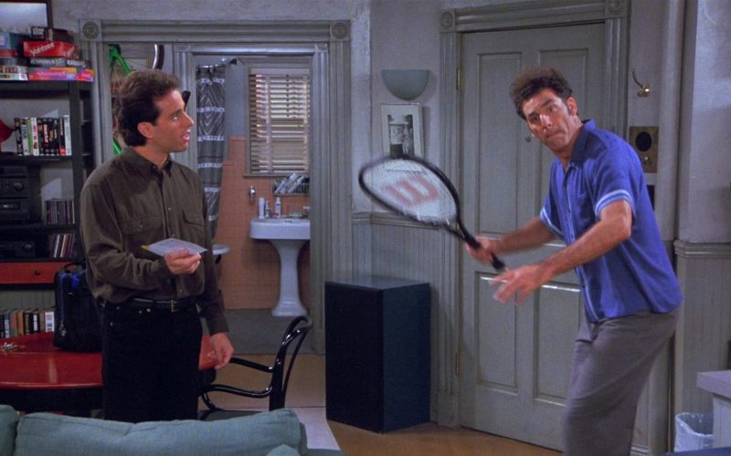 Wilson Tennis Racket Used by Michael Richards as Cosmo Kramer in Seinfeld Season 8 Episode 13