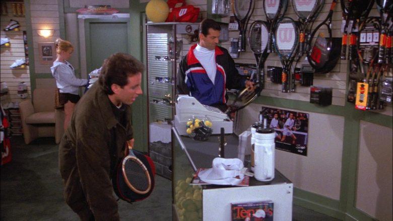 Wilson Tennis Racquets in Seinfeld Season 8 Episode 13 The Comeback (1)