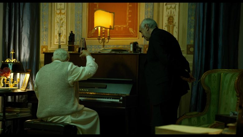 Yamaha Piano Used by Anthony Hopkins as Pope Benedict XVI in The Two Popes (1)