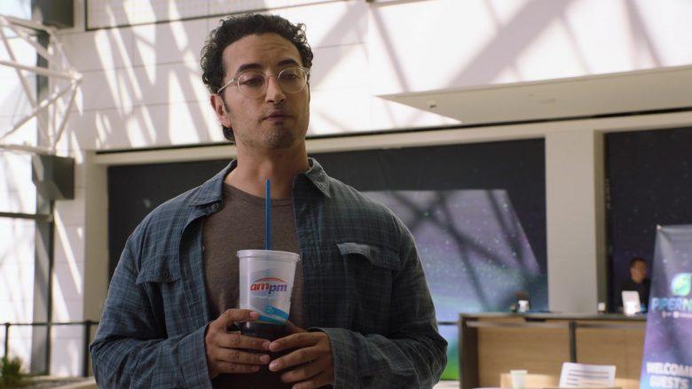 ampm Drink Enjoyed by Aristotle Athiras as Gabe in Silicon Valley Season 6 Episode 1 (2)