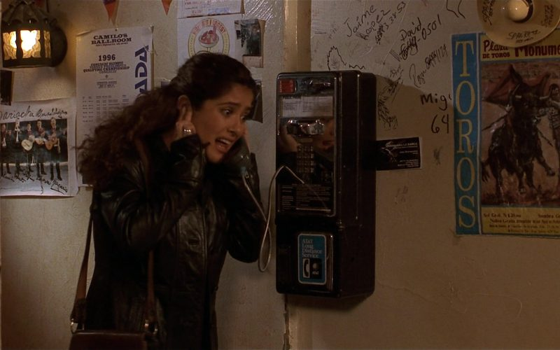 AT&T Payphone Used by Salma Hayek as Isabel Fuentes-Whitman in Fools Rush In (1997)
