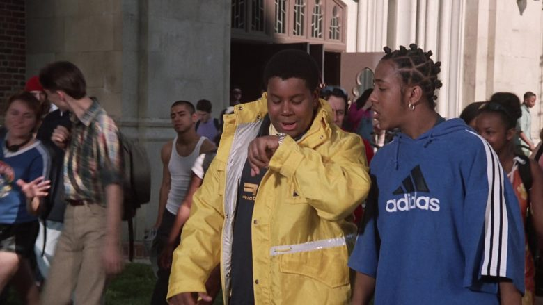 Adidas Blue Hoodie Worn by Marques Houston as Jake in Good Burger (2)