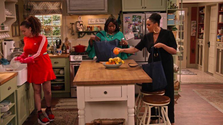 Adidas Dress in Red Worn by Talia Jackson as Jade McKellan in Family Reunion Season 1 Episode 18 (2)