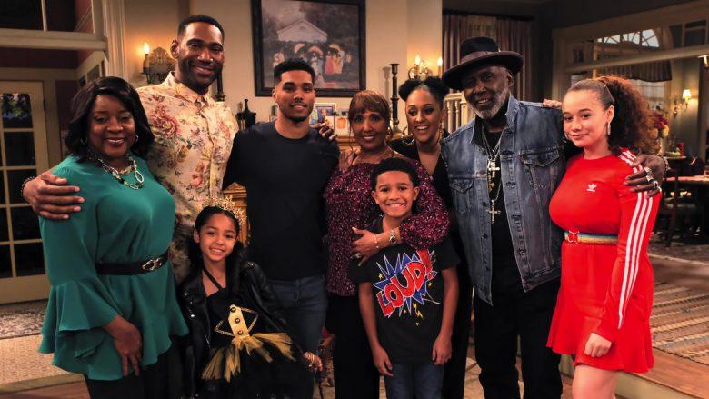Adidas Dress in Red Worn by Talia Jackson as Jade McKellan in Family Reunion Season 1 Episode 18 (7)