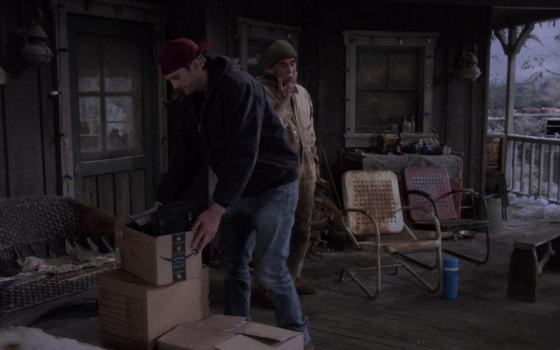 Amazon Prime Box Held by Ashton Kutcher as Colt Reagan Bennett in The Ranch Season 4 Episode 20 (2020)