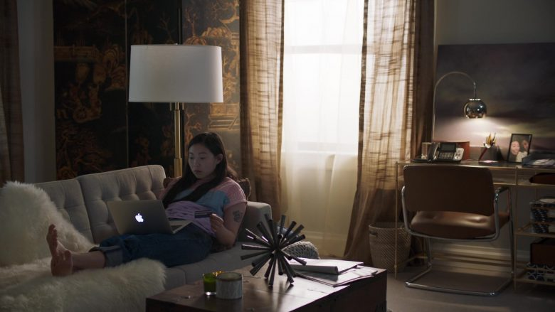 """Apple MacBook Air Laptop Used by Awkwafina in Awkwafina Is Nora from Queens Season 1 Episode 1 """"Pilot"""" (2020) TV Show"""