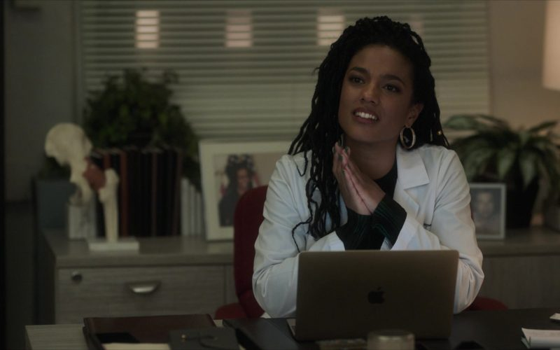 Apple MacBook Laptop Used by Freema Agyeman as Dr. Helen Sharpe in New Amsterdam Season 2 Episode 11 Hiding Behind My Smile (1)
