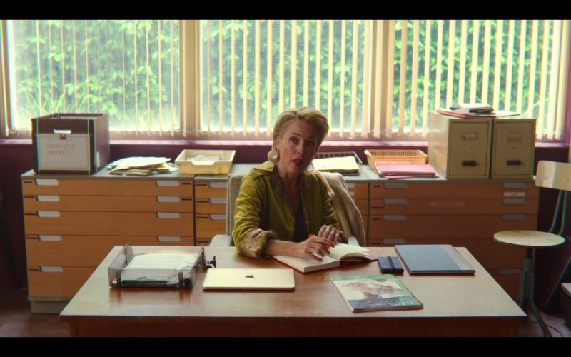 Apple MacBook Laptop Used by Gillian Anderson as Dr Jean F. Milburn in Sex Education Season 2 Episode 3 (1)