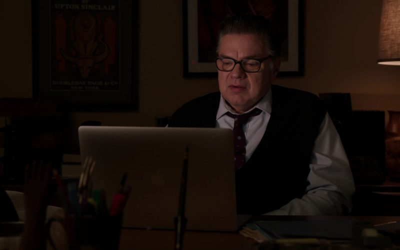 Apple MacBook Laptop Used by Oliver Platt as Dr. Daniel Charles in Chicago Med Season 5 Episode 11 The Ground Shifts Beneath Us (2020)