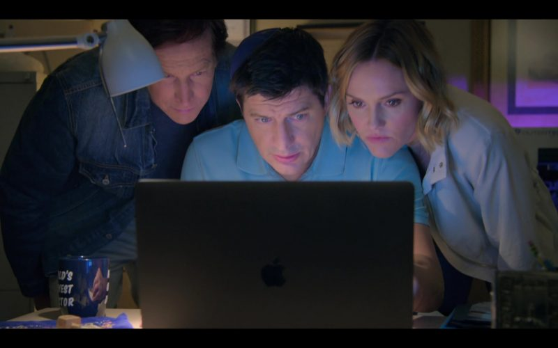 Apple MacBook Laptop Used by Rob Huebel, Ken Marino & Erinn Hayes in Medical Police Season 1 Episode 4 Mature Group Action