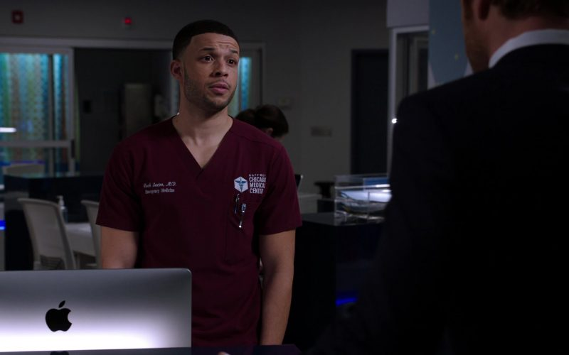 Apple iMac All-In-One Computers in Chicago Med Season 5 Episode 11 The Ground Shifts Beneath Us (2)