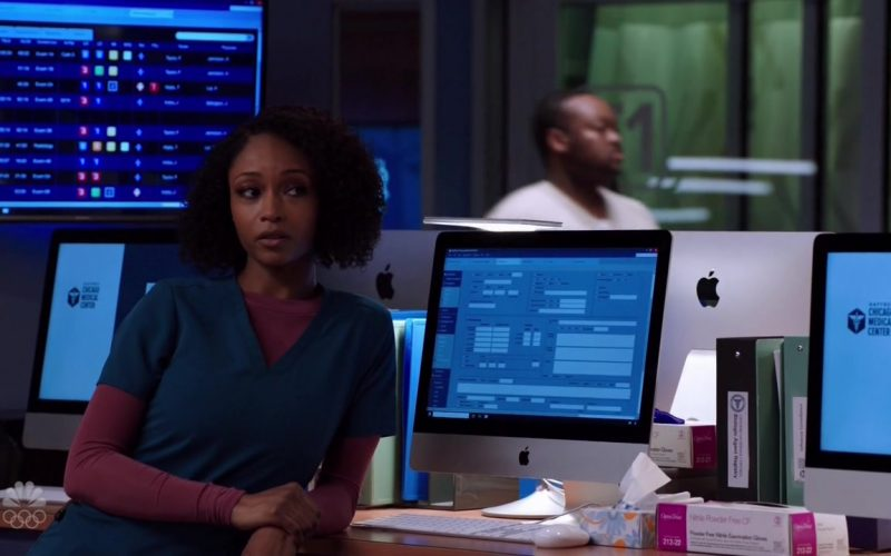 Apple iMac All-In-One Computers in Chicago Med Season 5 Episode 12 Leave the Choice to Solomon (3)