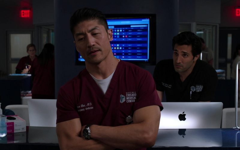 Apple iMac Computer Used by Dominic Rains as Dr. Crockett Marcel in Chicago Med Season 5 Episode 11 The Ground Shifts Beneath Us (1)