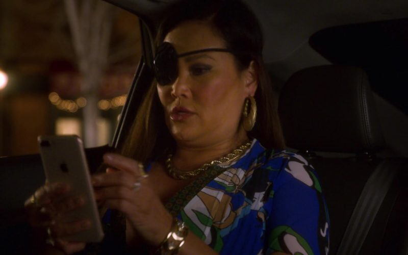 Apple iPhone Held by Tia Carrere (Althea Rae Duhinio Janairo) as Lady Danger in AJ and the Queen Season 1 Episode 10 Dallas (1)